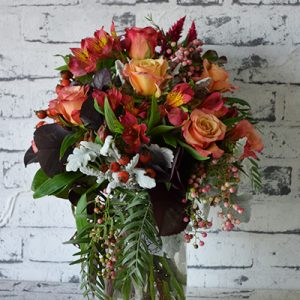 Scentsational Flowers - Autumnal Mason Jar Flower Arrangement