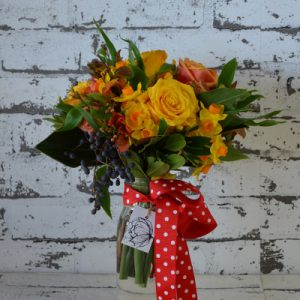 Scentsational Flowers - Autumnal Milkbottle Flower Arrangement