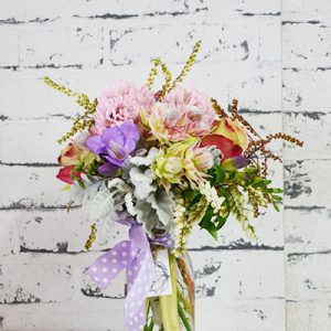 Scentsational Flowers - Pastel Milkbottle Flower Arrangement