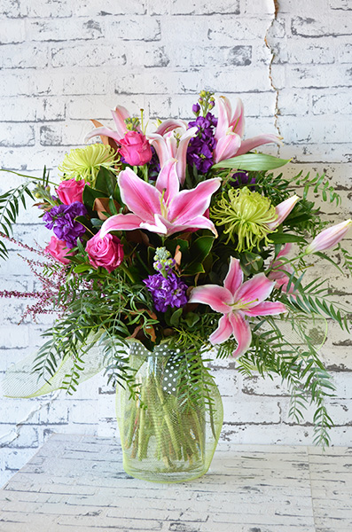 Scentsational Flowers - Mixed Bright Bouquet in Vase