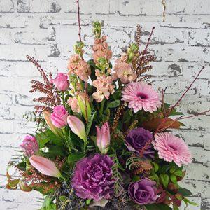 Scentsational Flowers - Pastel Flower Arrangement in Wooden Box