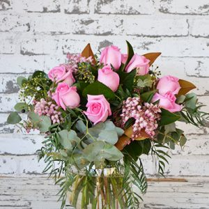 Scentsational Flowers - Bright Rose Posy in Vase