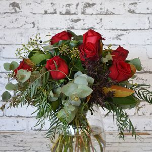 Scentsational Flowers - Red Rose Posy in Vase