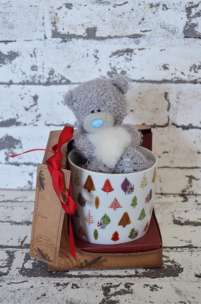 Scentsational Flowers - Christmas Coffee Cup with Bear