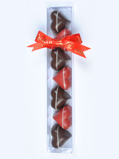 Scentsational Flowers - Ministry of Chocolate - Salted Caramel and Raspberry Hearts Lovers 7 pack