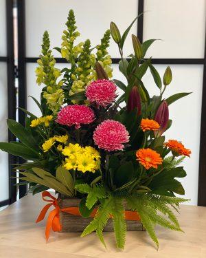 Wooden Box Flower Arrangements Archives Scentsational Flowers
