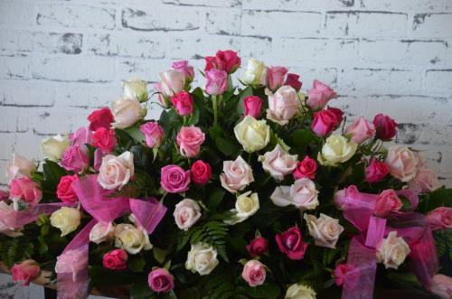 2.Casket Flowers Pink Roses