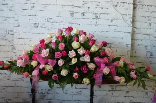 3.Casket Flowers Pink Roses Scentsational