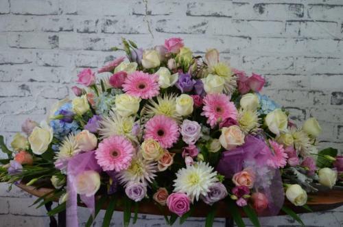 33.Funerals flowers mixed seasonal pastels