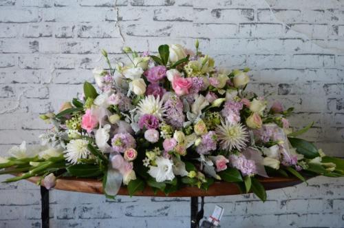 54.Mixed seasonal flower casket